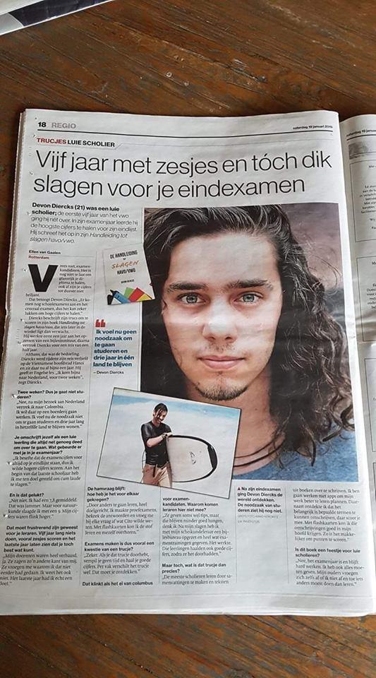 Devon Diercks in de krant